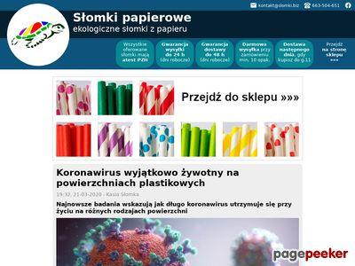 Biodegradowalne słomki z papieru