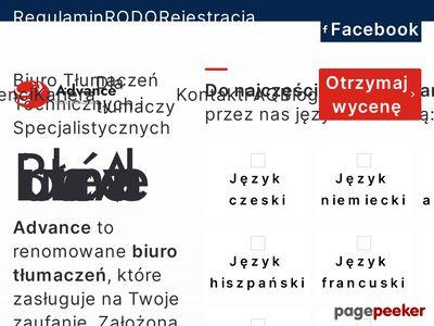 Biuro Tłumaczeń Advance - tłumaczenia przysięgłe