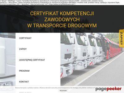 Certyfikat Kompetencji Zawodowych - Kurs Katowice