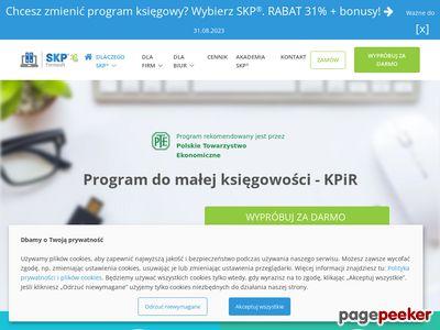 Www.ksiega-podatkowa.pl Kpir program księgowy SKP