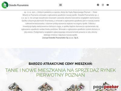 Osiedle Poznańskie - mieszkania rynek pierwotny Poznań