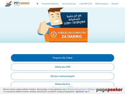 Jak wykonać rozliczenie PIT 37 - program pit-format.pl