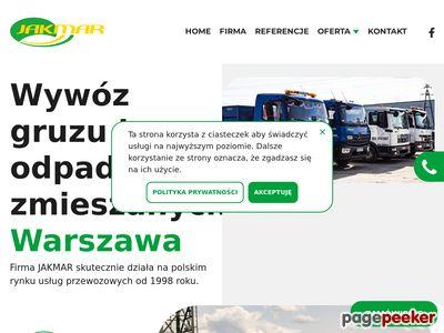 Jakmar - wywóz odpadów budowlanych Warszawa