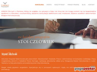 Kancelaria Adwokacka Libero Adwokat Krzysztof Żelechowski