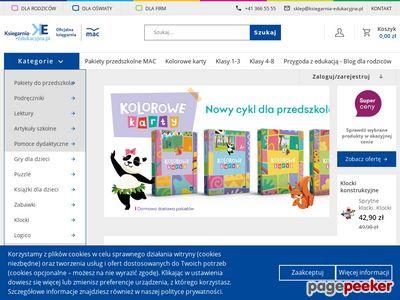 Księgarnia Edukacyjna wydawnictw MAC Edukacja oraz JUKA