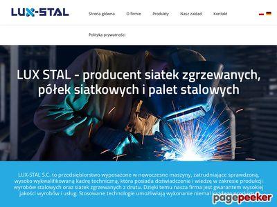 LUX-STAL - producent siatek zgrzewanych, kontenerów siatkowych - Brodnica, Manieczki