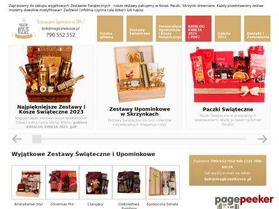Paczki świąteczne na magicznekosze.pl