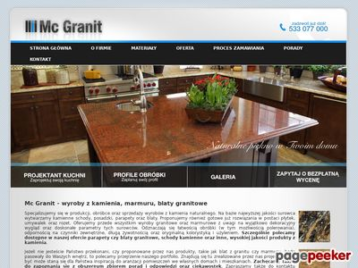 Mc Granit Poznań - blaty granitowe