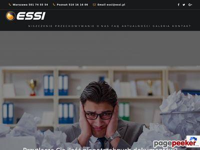Niszczenie dokumentów - ESSI