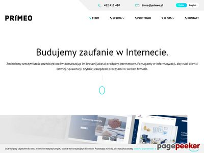 Primeo - tworzymy nowoczesne strony internetowe