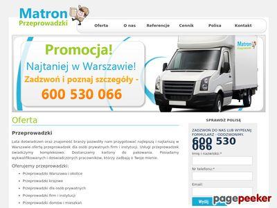 Przeprowadzkimatron.pl - tanie przeprowadzki Warszawa