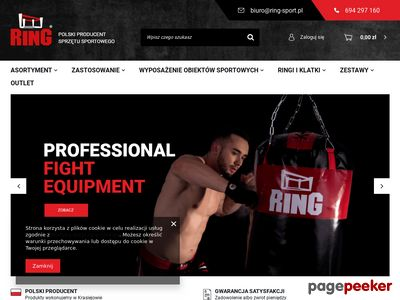 Ring Sport sklep worki i rękawice bokserskie
