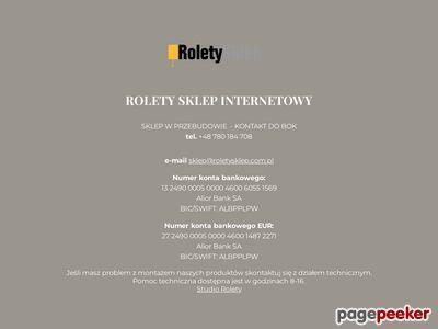 Roletysklep.com.pl - aluminiowe żaluzje