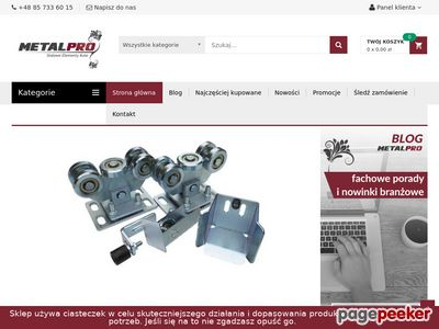 Miniaturka Sklep.metalpro.pl - elementy do bram