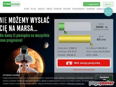 SzybkaGotowka.pl - pożyczki przez Internet