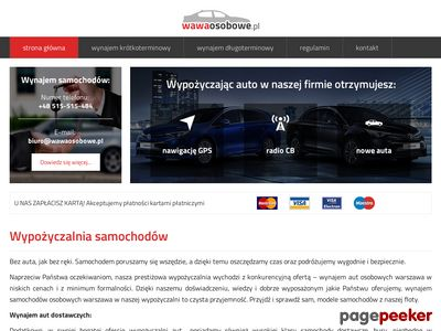 Wypożyczalnia samochodów osobowych Warszawa