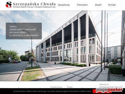 Szczepańska Chwała Kancelaria Radców Prawnych I Doradców Podatkowych Sp. p.