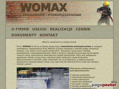 Piaskowanie elewacji - Womax
