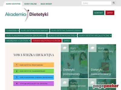 Dietetyka Gdańsk, Kraków, Warszawa