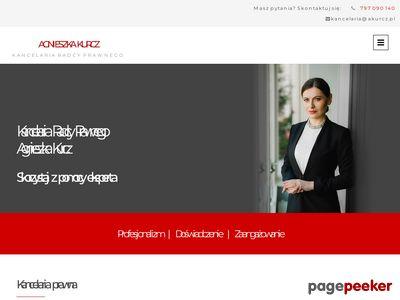Kancelaria prawna Elbląg Agnieszka Kurcz
