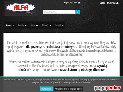 Alfa sp.j. - hurtownia łożysk, pasów klinowych