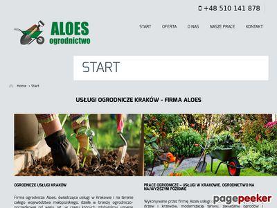 Aloes - formowanie krzewów w małopolsce