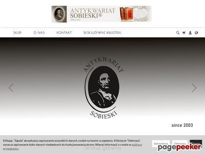 Antykwariat Sobieski - skup i sprzedaż książek starodruków