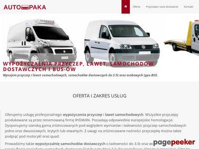 Wypożyczalnia przyczep, lawet i samochodów dostawczych - Tczew