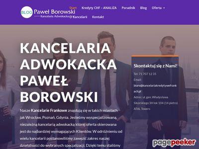 Paweł Borowski Kancelaria Prawna