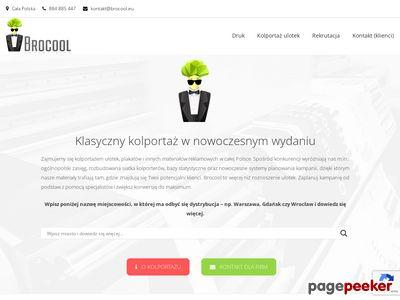 Miniaturka Kolportaż ulotek i Plakatowanie- Agencja Brocool