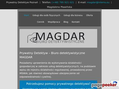 Magdar Prywatny detektyw Magdalena Pławińska