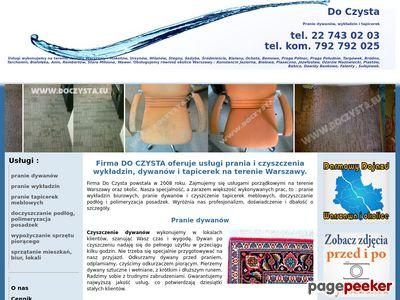 Do Czysta - pranie tapicerek Warszawa