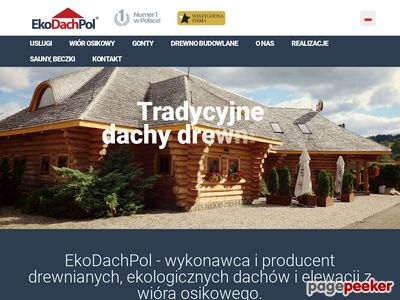 Krycie dachów wiórem - ekodachpol.pl