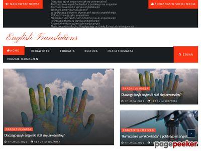 Tłumaczenia specjalistyczne angielski