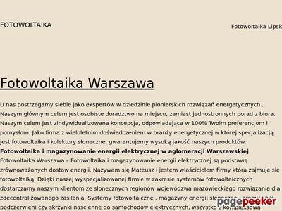 Instalacje fotowoltaiczne Warszawa