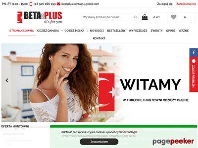 Internetowa hurtownia odzieży damskiej Beta Plus