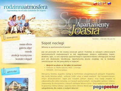 Wygodne noclegi w apartamentach joasia.com.pl