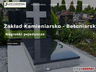 Zakład Kamieniarsko-Betoniarski Jerzy Lewandowski - nagrobki