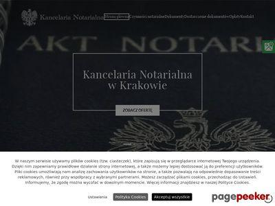 Kancelarianotarialnakrakow.com.pl akty notarialne