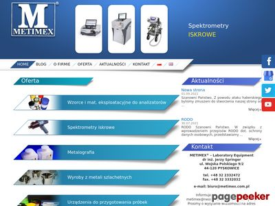 Metimex - wzorce składu chemicznego