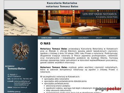 T. Balas - dobry notariusz w Katowicach