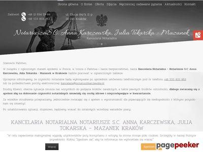 Anna Karczewska - akty notarialne Kraków