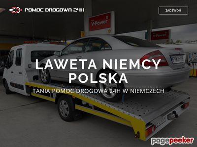 Www.pomoc-drogowa-laweta-niemcy.com.pl 24h holowanie Niemcy - Polska