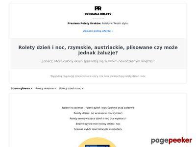 Presiana - Rolety Rzymskie Rolety Dzień/Noc Markizy | Kraków
