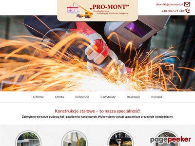 Pro-Mont - projekt konstrukcji stalowych
