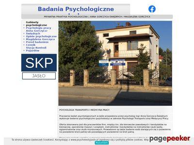 Badania Psychologiczne Jasło - psycholog Anna Gorczyca-Świędrych