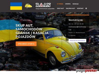 Raan - złomowanie aut w trójmieście
