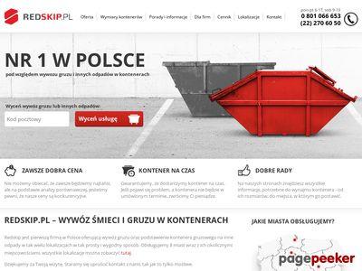 Redskip - kontenery na gruz i śmieci