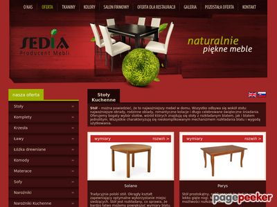 Producent krzesł i stołów z litego drewna