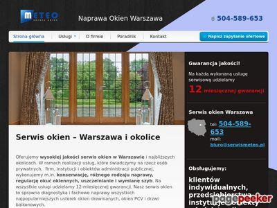 SerwisMeteo.pl serwis okien, uszczelnianie okien Warszawa